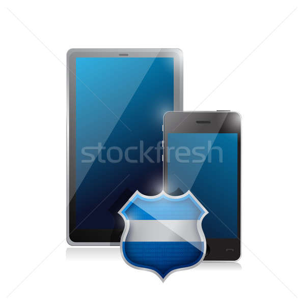 tablet mobile pc and a smartphone protected. Stock photo © alexmillos