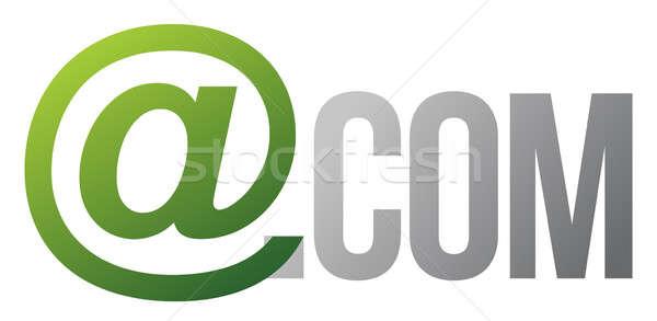 com text concept illustration design over white Stock photo © alexmillos