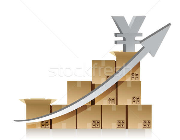Finansal yen kutu grafik örnek dizayn Stok fotoğraf © alexmillos