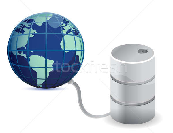 Petróleo dependencia ilustración blanco negro energía Foto stock © alexmillos