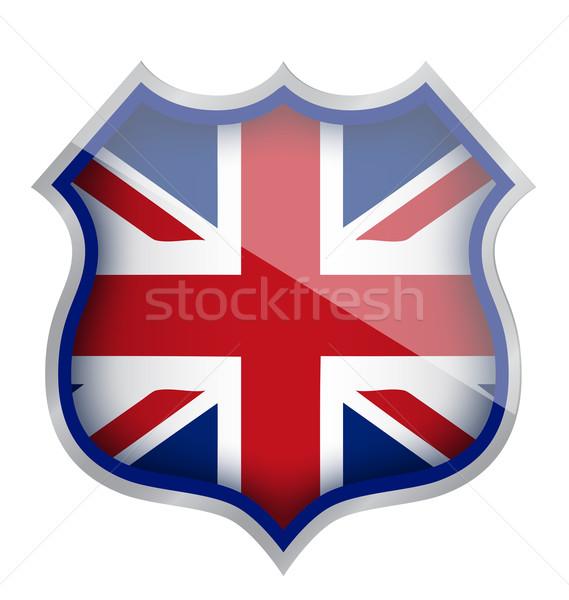 Stock photo: uk england shield illustration design over white