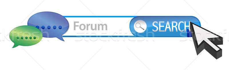 Web forum recherche illustration design blanche Photo stock © alexmillos