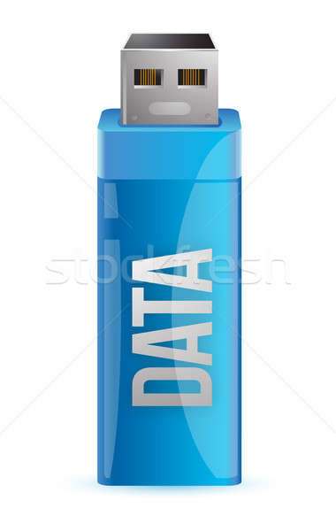Stock photo: one usb key that contains data illustration graphic design