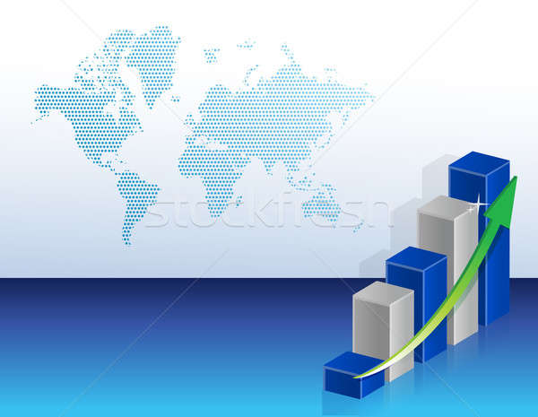 modern business graph map graphic background illustration Stock photo © alexmillos