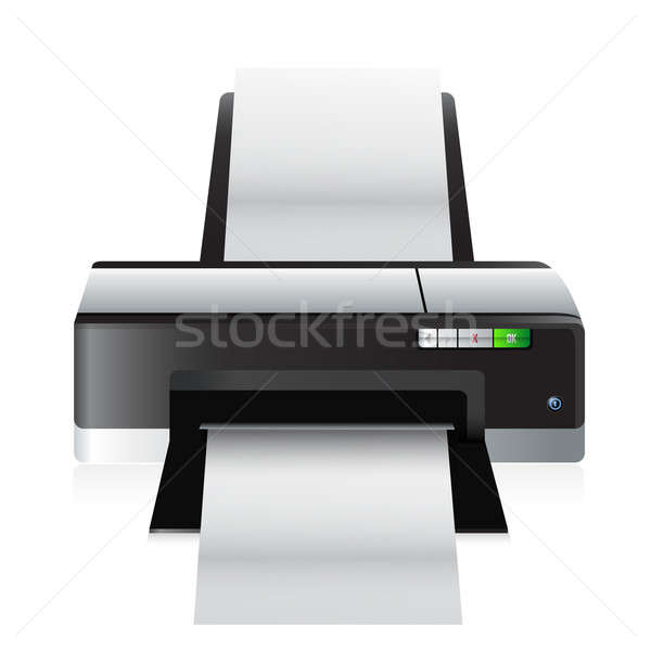 high quality printer illustration design over a white background Stock photo © alexmillos