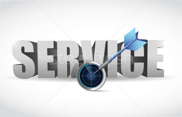 Service and radar target illustration design Stock photo © alexmillos