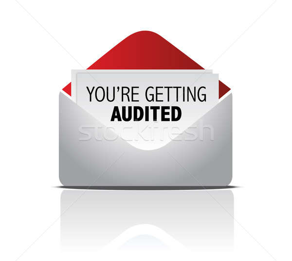 You are getting audited mail illustration design Stock photo © alexmillos