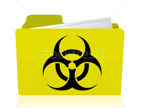 folder with a biohazard symbol in front illustration design Stock photo © alexmillos