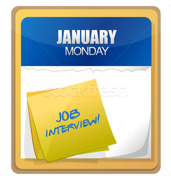 Entrevista de emprego palavras escrito calendário negócio informação Foto stock © alexmillos