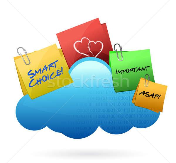 Posts Cloud computing concept  Stock photo © alexmillos