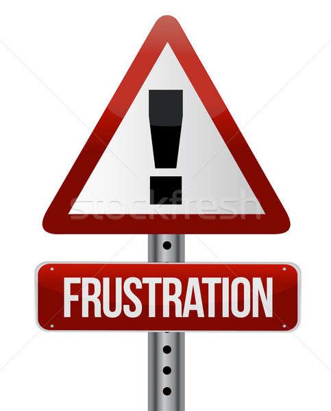 Frustrazione lavoro sfondo segno triste Foto d'archivio © alexmillos