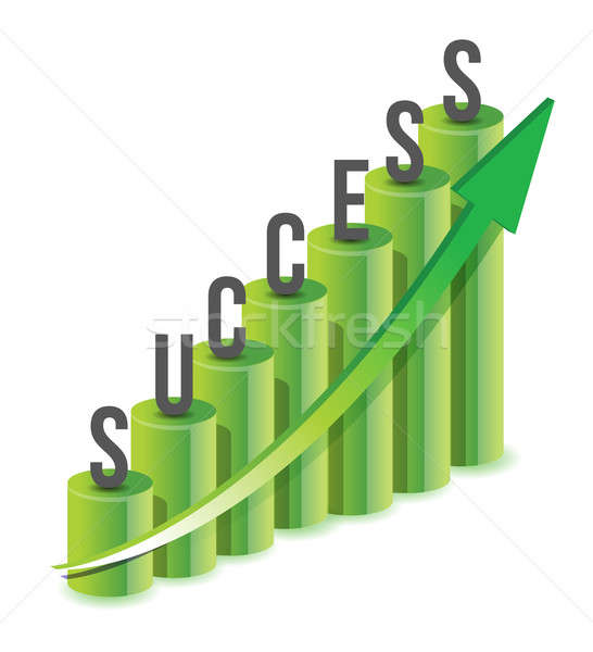 Success growth Chart  Stock photo © alexmillos