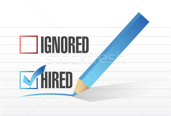 Hired selected illustration design Stock photo © alexmillos