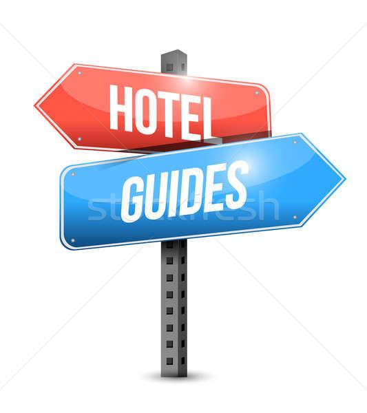 Hotel podpisania ilustracja projektu działalności Internetu Zdjęcia stock © alexmillos