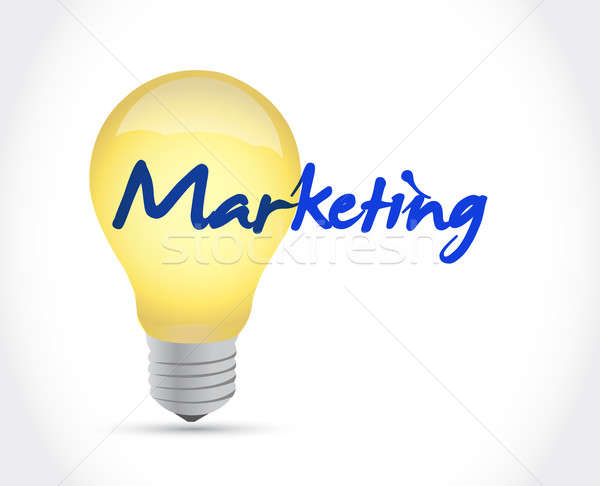 marketing ideas concept illustration design over a white backgro Stock photo © alexmillos