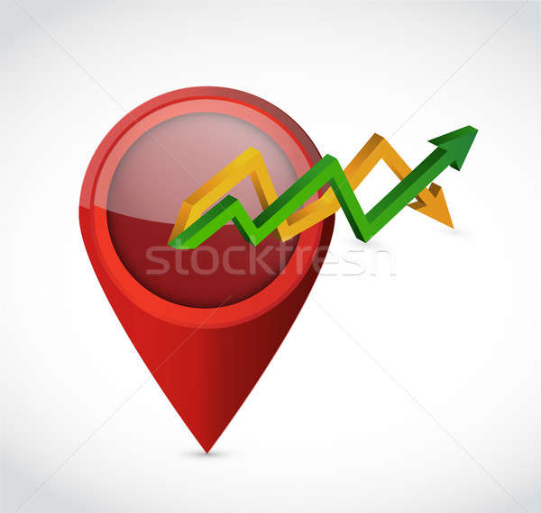pointer up and down arrow business graph Stock photo © alexmillos