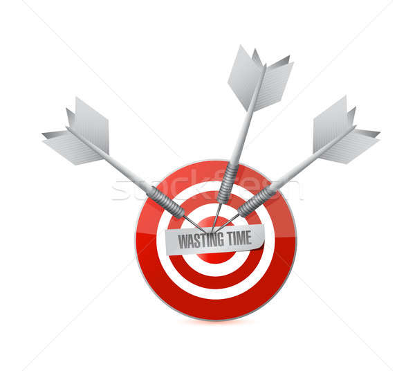Wasting time target sign concept illustration Stock photo © alexmillos