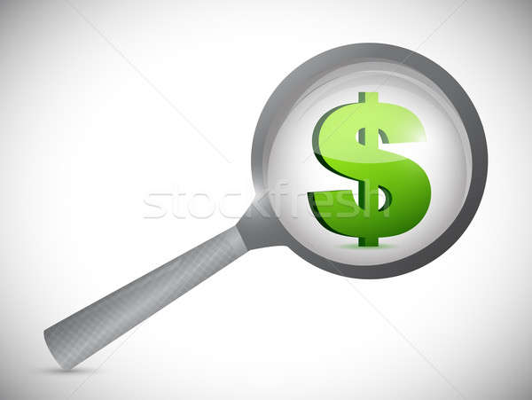 Dollaro valuta simbolo illustrazione design bianco Foto d'archivio © alexmillos