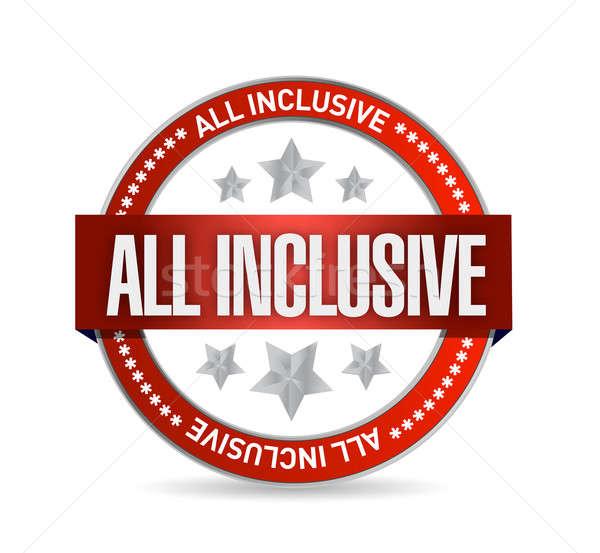 all inclusive seal illustration design Stock photo © alexmillos