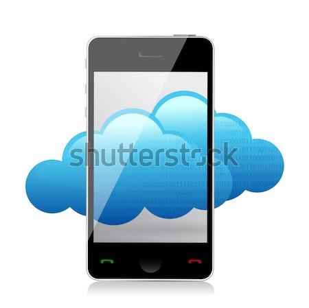 電話 雲 アップロード 矢印 実例 デザイン ストックフォト © alexmillos