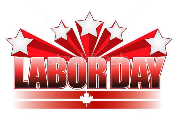 Munka nap Kanada illusztráció terv csillag Stock fotó © alexmillos