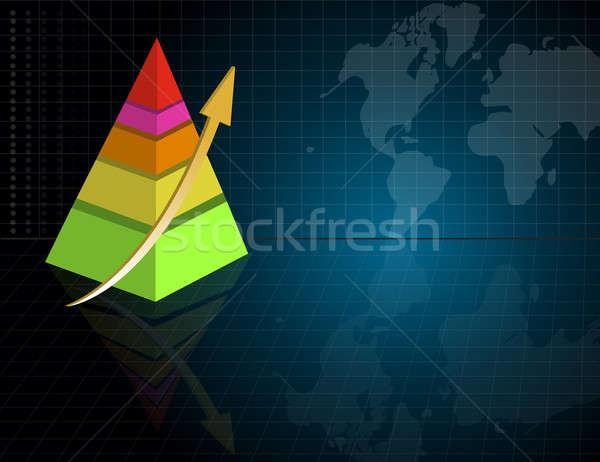 Pyramid business graph Stock photo © alexmillos