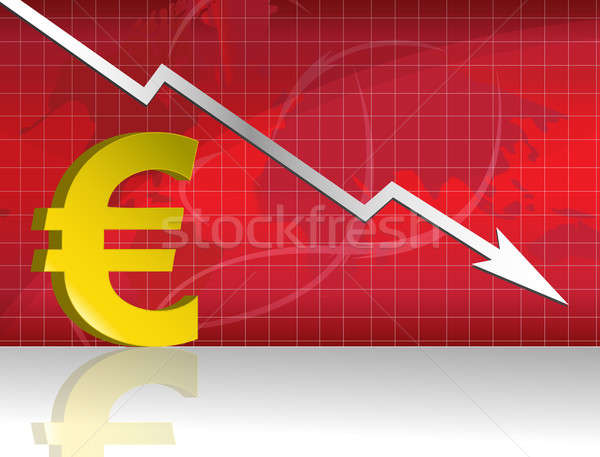 Losing euro forex graph Stock photo © alexmillos