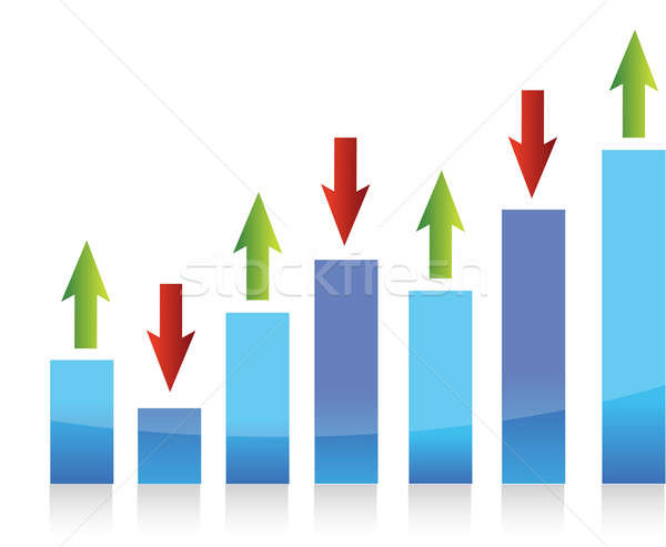 graph up and down arrows illustration design Stock photo © alexmillos