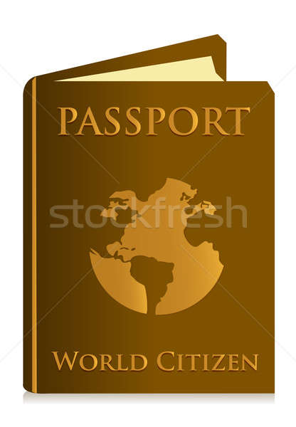 Passport on white background illustration design Stock photo © alexmillos