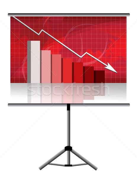 bad results in a screen presentation pole Stock photo © alexmillos