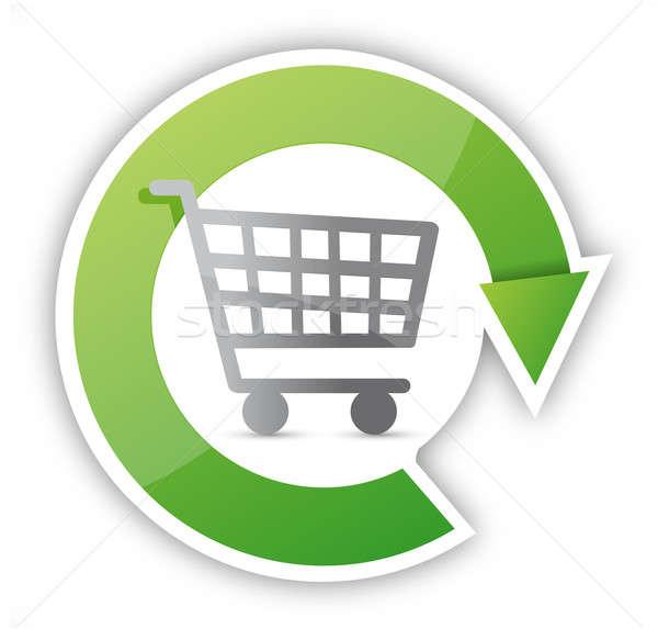Constant shopping concept illustration design over white Stock photo © alexmillos