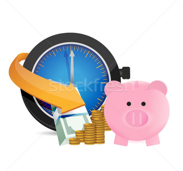 time to save money. concept illustration design over white Stock photo © alexmillos