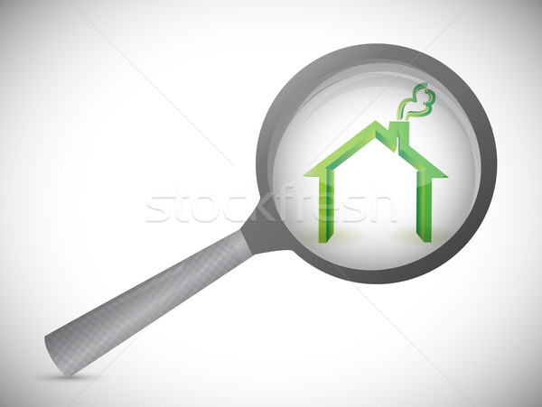 house inspection illustration design over a white background Stock photo © alexmillos