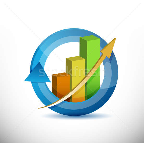 Colorful Business arrow cycle graph  Stock photo © alexmillos