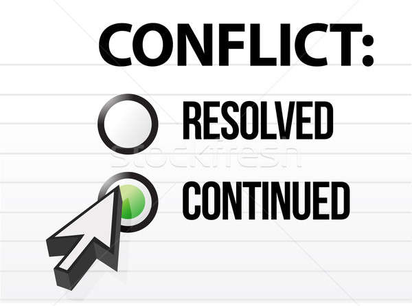 conflict continues question and answer selection design Stock photo © alexmillos