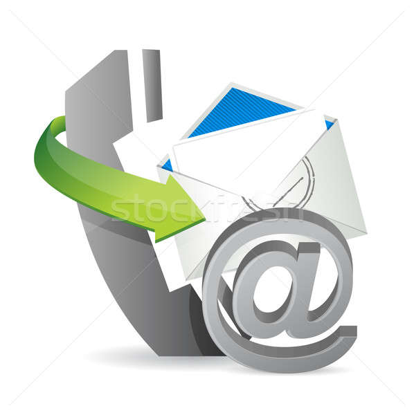телефон почты бизнеса бумаги дизайна Сток-фото © alexmillos