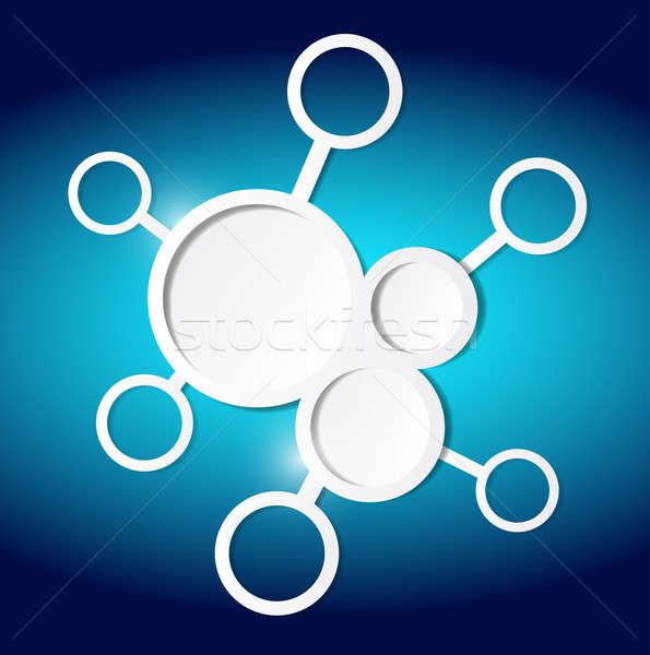 Circles diagram illustration design Stock photo © alexmillos