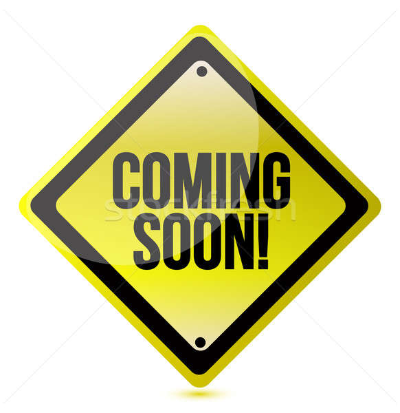coming soon sign illustration design over a white background Stock photo © alexmillos
