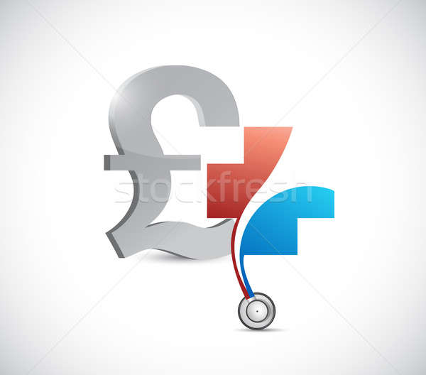 Pound financial health concept. currency Stock photo © alexmillos