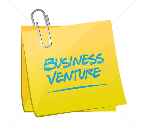 Stock photo: business venture post sign concept