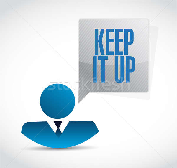 Keep it up businessman sign concept Stock photo © alexmillos