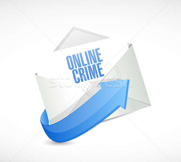онлайн преступление почты знак иллюстрация дизайна Сток-фото © alexmillos