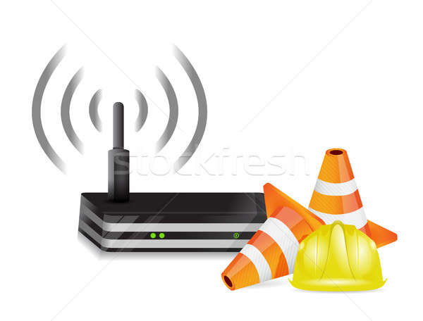 router and protection barrier Stock photo © alexmillos