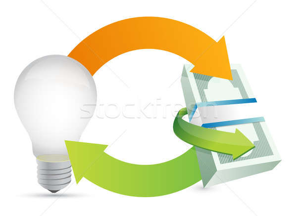money making idea concept illustration Stock photo © alexmillos