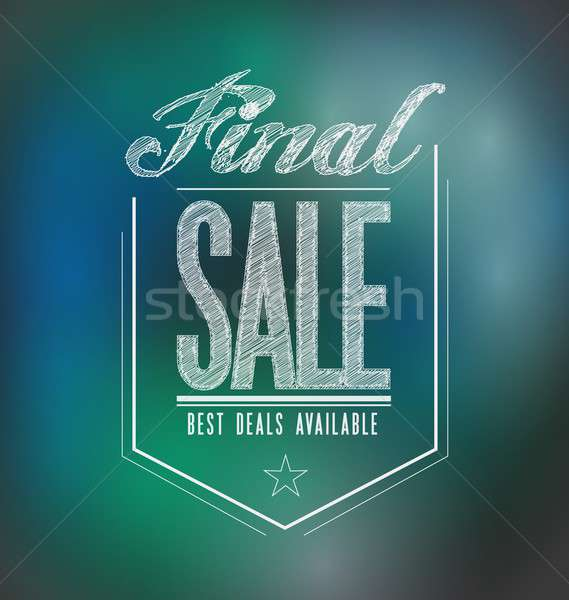 Luces final venta anunciante signo banner Foto stock © alexmillos