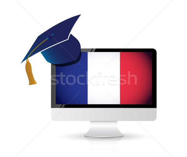french using technology to learn the english Stock photo © alexmillos