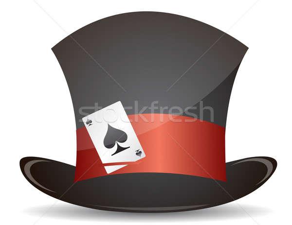 магия Hat туз карт иллюстрация дизайна Сток-фото © alexmillos