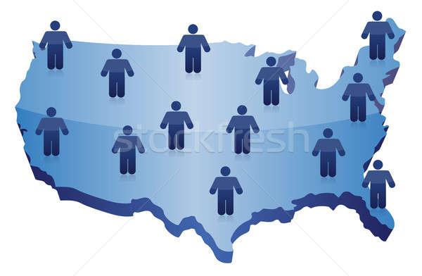 People social network communication on USA Stock photo © alexmillos