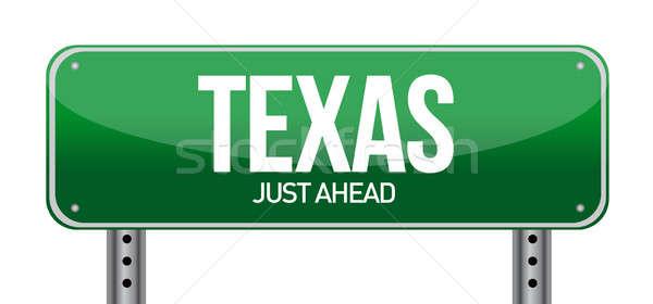 テキサス州 道路標識 実例 デザイン 白 道路 ストックフォト © alexmillos