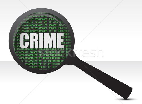 Criminalità inchiesta illustrazione design bianco computer Foto d'archivio © alexmillos